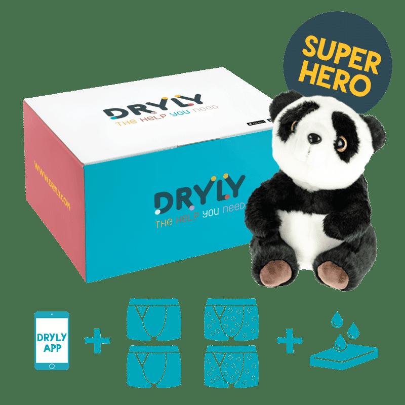 Bedwetting alarm - plaswekker - reviews - Dryly plaswekker pakket superhero
